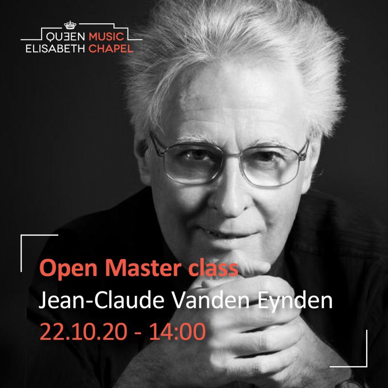 Open Masterclass : chamber music & piano – J.- C. Vanden Eynden