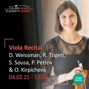 Viola recital – Tournemire, Chausson, Viernes & Vieuxtemps