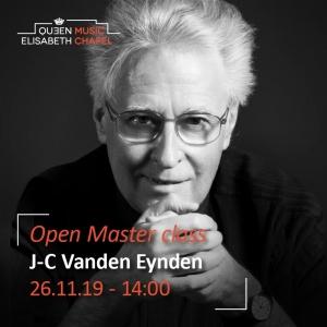 Open Master class – J.-C. Vanden Eynden